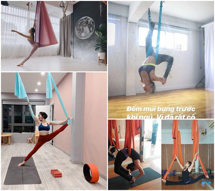 Khổng Tú Quỳnh nhập hội mê yoga bay, bảo sao dáng nuột nà, vòng 3 quả táo đẹp mê - 9