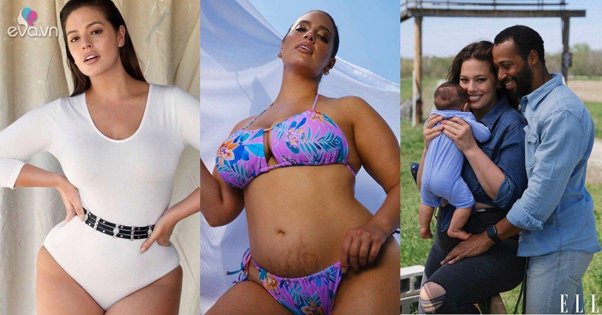 Chân dài béo hot nhất thế giới chụp ảnh nude sau sinh, nhìn xuống vết rạn bụng ai cũng nể