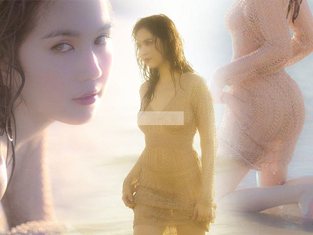 Ngọc Trinh lại chơi trội: diện váy len xuống biển chụp hình nhưng quên luôn nội y ngực?