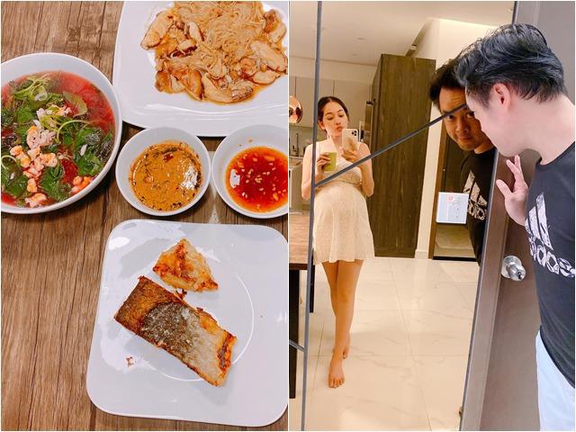 Dương Khắc Linh nấu ăn cho vợ mang thai đôi, bà bầu Hồ Ngọc Hà lập tức vào bình luận