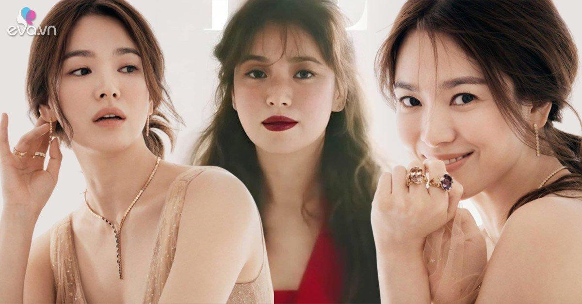 Không còn đánh mắt thâm xì như phim kinh dị, Song Hye Kyo trang điểm nhạt là xinh ngất ngây