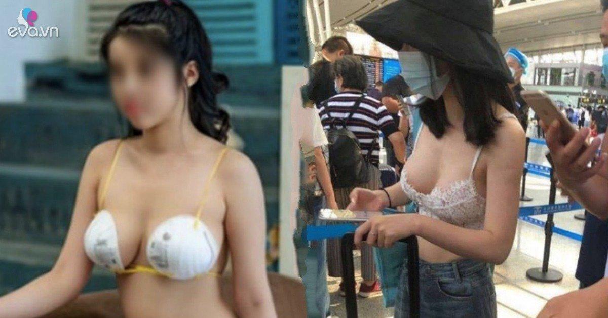 Mặc nội y ra sân bay, lấy khẩu trang làm bikini, những pha ăn mặc cạn lời của chị em