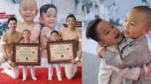 Nối nghiệp bố, cặp quý tử 3 tuổi của Quốc Cơ - Quốc Nghiệp lập kỷ lục Guinness Việt Nam