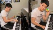 Clip nam sinh Mỹ vừa chơi piano vừa giải Rubik thu hút dân mạng