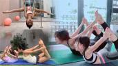 Tiểu công chúa nhà sao Việt tập yoga, mới tí tuổi uốn dẻo điêu luyện không thua mẹ