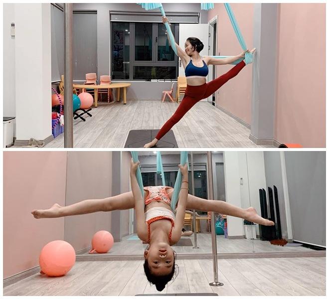 Tiểu công chúa nhà sao Việt tập yoga, mới tí tuổi uốn dẻo điêu luyện không thua mẹ - 4