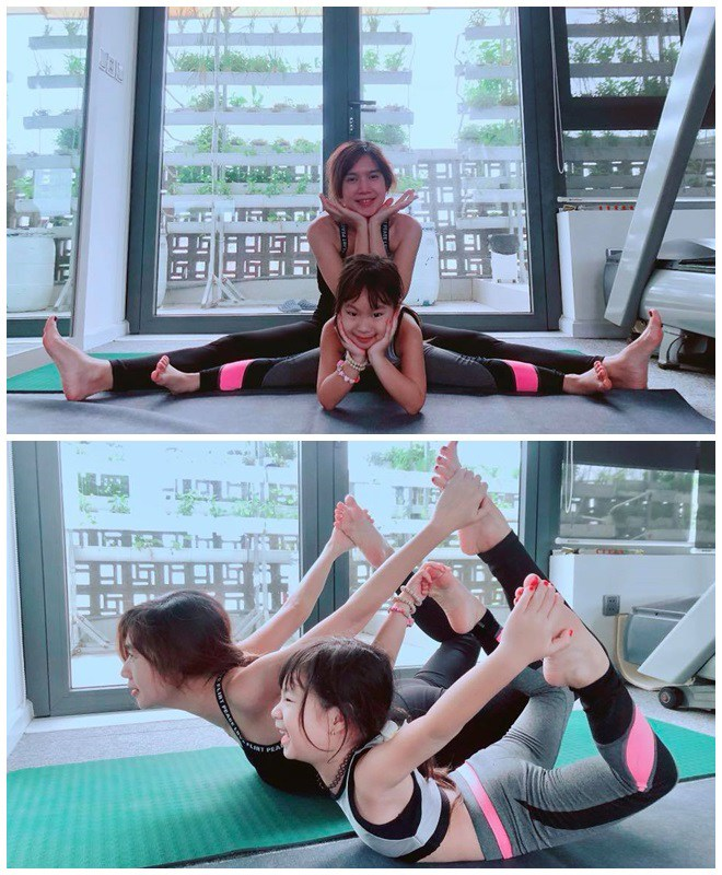 Tiểu công chúa nhà sao Việt tập yoga, mới tí tuổi uốn dẻo điêu luyện không thua mẹ - 6