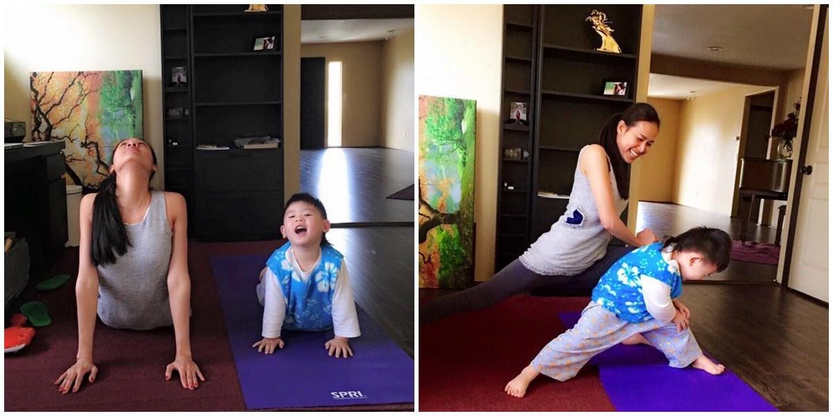 Tiểu công chúa nhà sao Việt tập yoga, mới tí tuổi uốn dẻo điêu luyện không thua mẹ - 13
