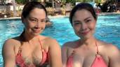 U50 nhưng búp bê Thanh Thảo vẫn mặc bikini khoét bạo, khoe vòng 1 rực lửa hơn gái trẻ
