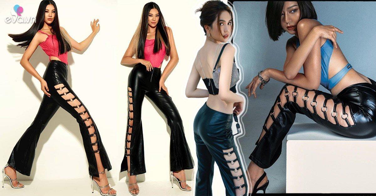 Áo cắt khoét xưa rồi, hội gái xinh Vbiz rủ nhau diện quần nhiều lỗ khoe chân