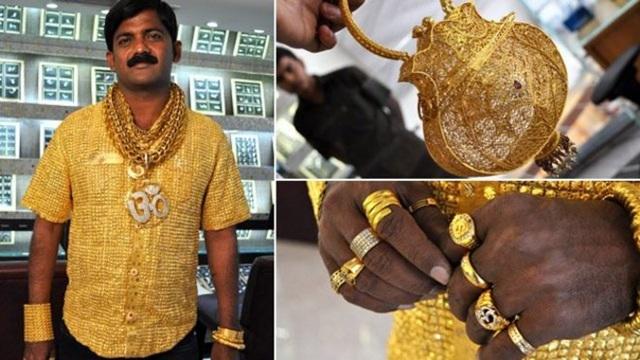 Choáng với 4 đại gia thích khoe của: Người đeo khẩu trang vàng, người như cây vàng di động