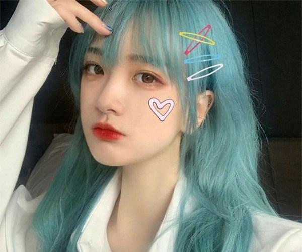 10 kiểu tóc màu xanh rêu đẹp nhất hiện nay phù hợp với mọi làn da - 6
