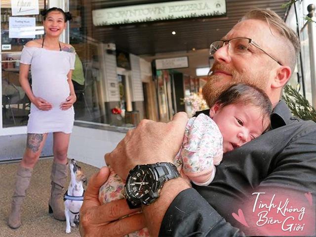 9X xinh đẹp đẻ con với chồng Úc hơn nhiều tuổi, bé lọt lòng không thở, không khóc