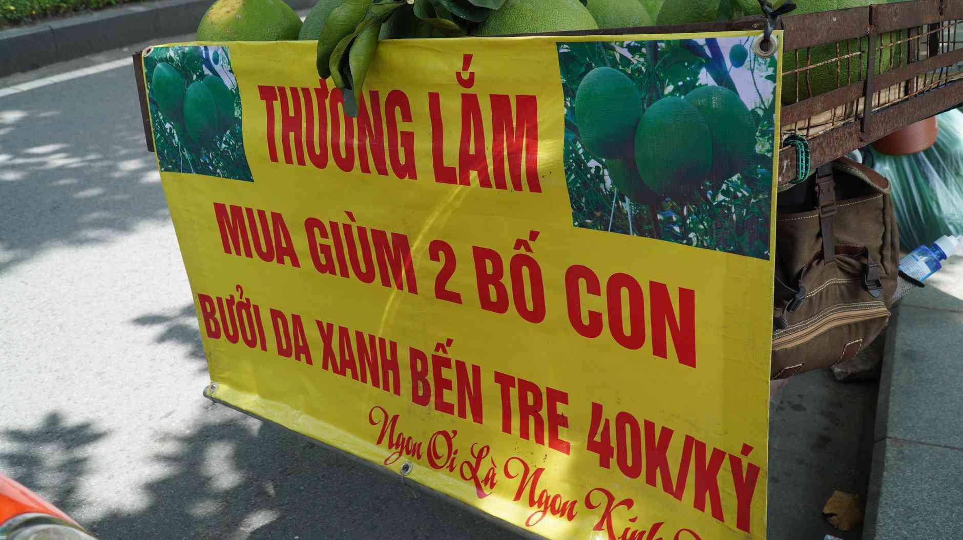 Trăm người mua ủng hộ 2 bố con bán hoa quả với tấm biển độc đáo ở vỉa hè SG - 4
