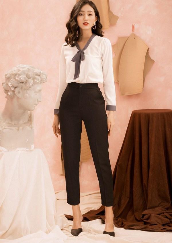 Diện quần đi làm không hề cứng nhắc, nàng công sở thừa sức mặc đẹp nhờ những công thức này - 12