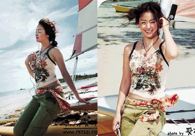 Kim Tae Hee bị amp;#34;đào mộamp;#34; ảnh thời còn amp;#34;hai lúaamp;#34;, nhìn xuống bụng ngấn mỡ ai cũng ngỡ ngàng - 4