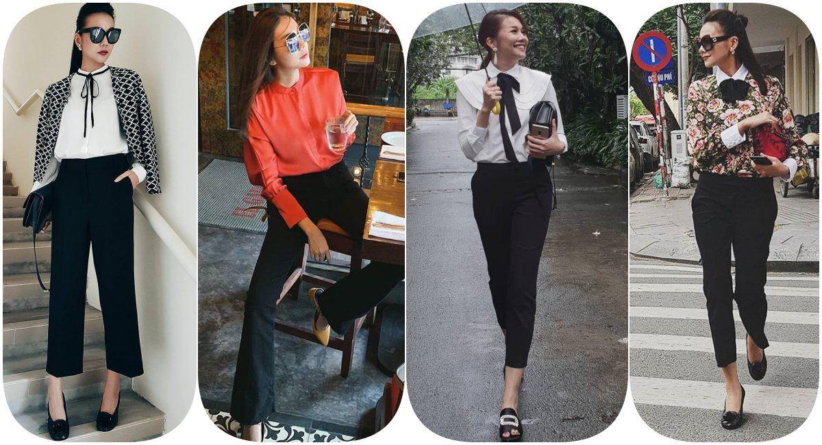 Thanh Hằng diện áo blouse trong suốt, bí quyết mới cho các nàng công sở là đây - 6