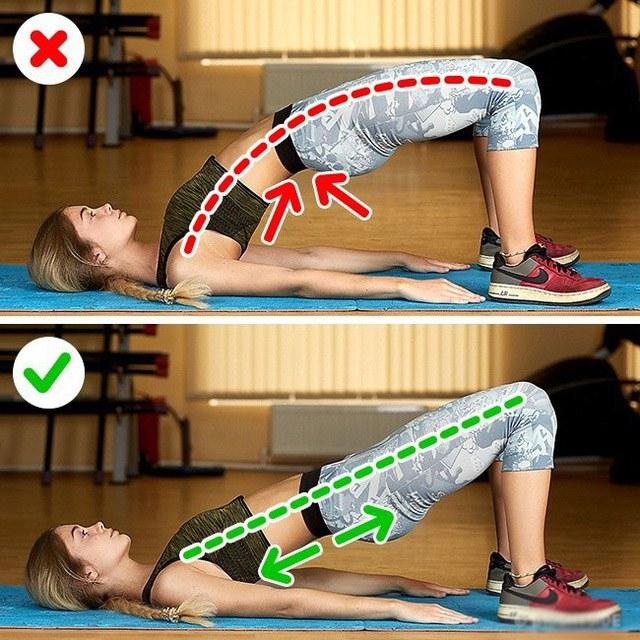 Tổng hợp những tư thế tập luyện sai chị em thường mắc phải rất dễ gây đau thắt lưng - 4
