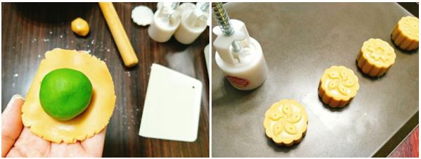Cách làm bánh trung thu trà xanh nướng và dẻo đơn giản nhất - 11