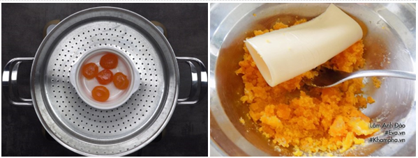 Cách làm bánh trung thu trứng muối và trứng muối tan chảy cực đơn giản - 12
