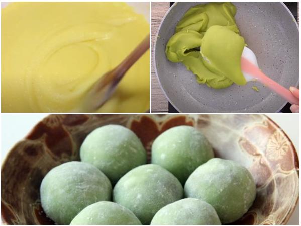 Cách làm bánh trung thu trà xanh nướng và dẻo đơn giản nhất - 9