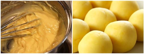 Cách làm bánh trung thu trứng muối và trứng muối tan chảy cực đơn giản - 15