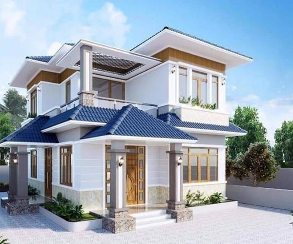 Mẫu nhà 2 tầng đẹp đơn giản hiện đại phù hợp cả nông thôn và thành thị - 1