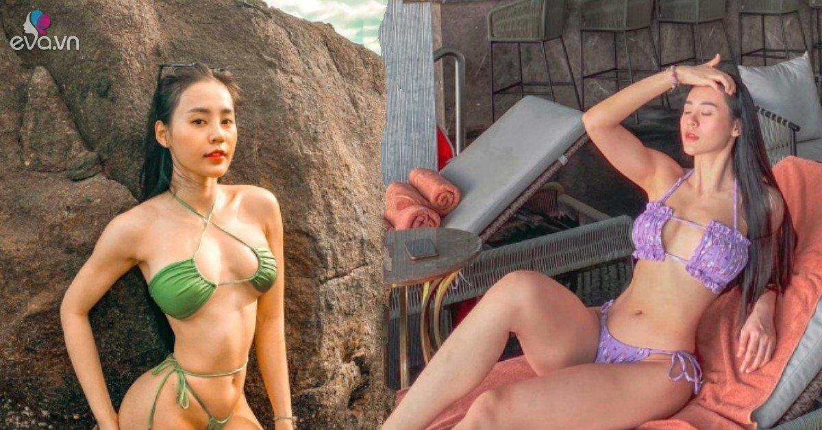 Hot girl 9x ngực tấn công mông phòng thủ thích diện bikini mỏng tang đốt mắt người nhìn