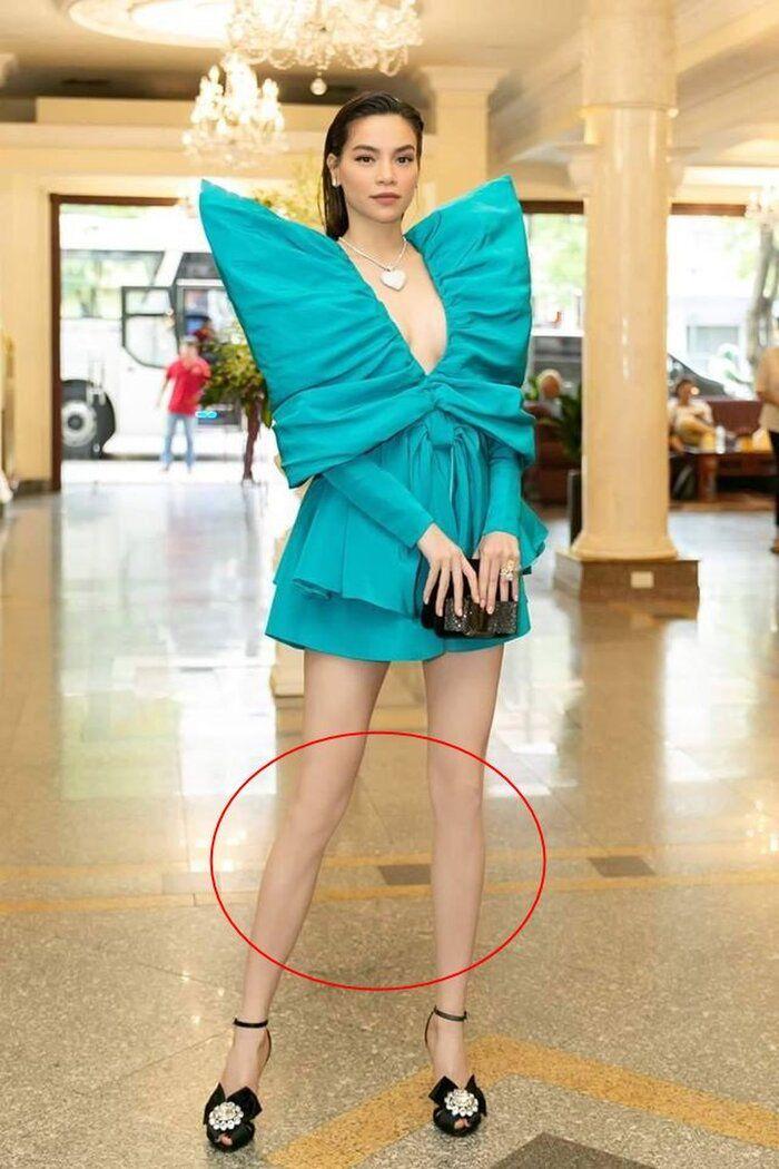 Dáng đẹp nức nở, mỹ nhânViệt vẫn mạnh tay photoshop: Lan Ngọc tay biến dạng, Hà Hồ mất đầu gối - 1