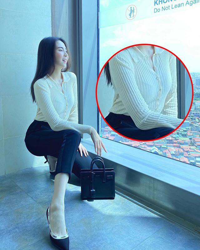 Khéo mặc như Mai Ngọc cũng để viền nội y lấp ló, chị em diện áo mỏng manh phải cẩn thận! - 3
