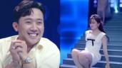 """Hari Won gặp sự cố suýt hớ hênh trên sóng truyền hình, Trấn Thành phản ứng """"lạ"""""""