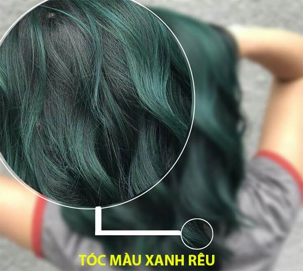Những màu tóc xanh rêu đẹp ấn tượng phù hợp với mọi gương mặt - 1