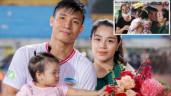 Sao Việt 24h: Vợ Bùi Tiến Dũng say đắm hôn chồng trước đông người, mẹ chồng ngại ngùng quay đi
