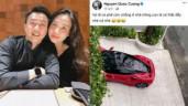 """Cường Đô La """"kêu trời"""" khi vợ lái xe 30 tỉ đi chơi, Đàm Thu Trang liền """"bóc phốt"""" chồng"""