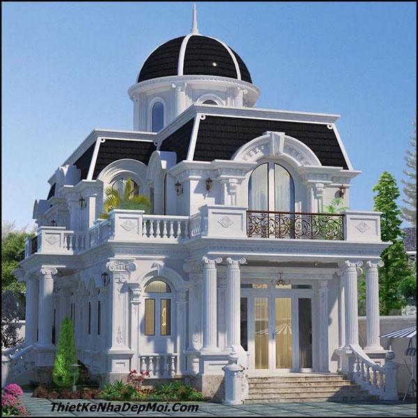 5 mẫu biệt thự 2 tầng tân cổ điển sang trọng thu hút mọi ánh nhìn - 1