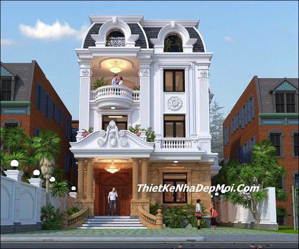 5 mẫu biệt thự 2 tầng tân cổ điển sang trọng thu hút mọi ánh nhìn - 4