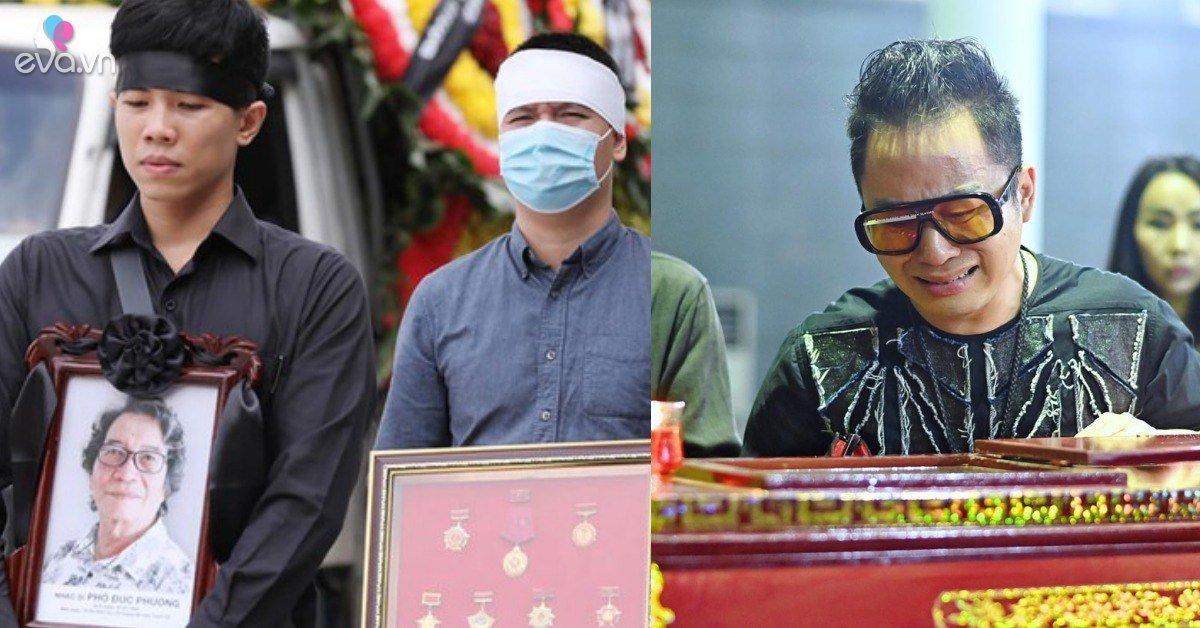 Sao Việt tiễn đưa nhạc sĩ Phó Đức Phương: Người tặng 8 chữ vĩnh biệt, người khóc nghẹn