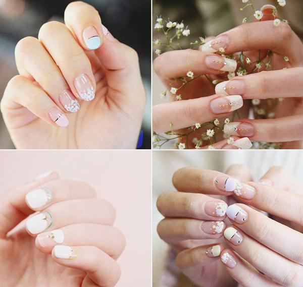 Những mẫu nail cô dâu xinh đẹp giúp bạn trở nên lung linh hơn trong ngày cưới - 1