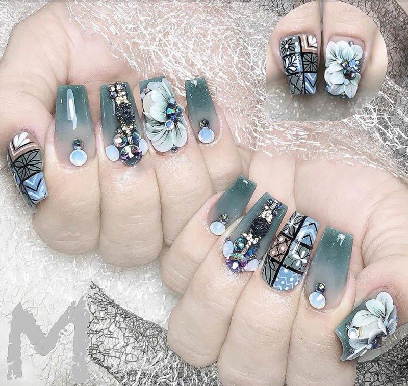 Những mẫu nail ombre đẹp trẻ trung được yêu thích nhất hiện nay - 6