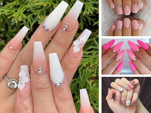 Những mẫu nail cô dâu xinh đẹp giúp bạn trở nên lung linh hơn trong ngày cưới - 7