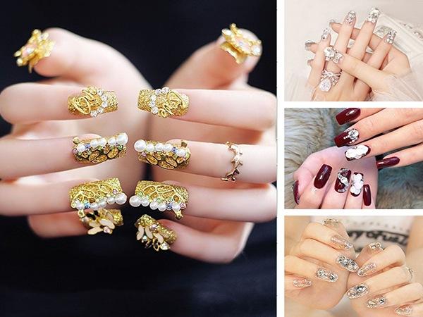 Những mẫu nail cô dâu xinh đẹp giúp bạn trở nên lung linh hơn trong ngày cưới - 8