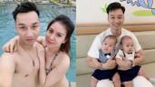 """VợThành Trung mắc chứng""""nghiện chồng"""", bị nói chiều chồng hơn 2 con trai mới sinh"""