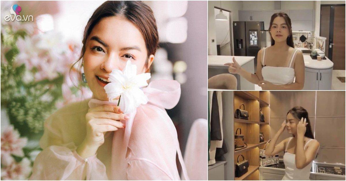 Phạm Quỳnh Anh khoe căn hộ tiện nghi sau 2 năm ly hôn, có tủ đồ hiệu riêng