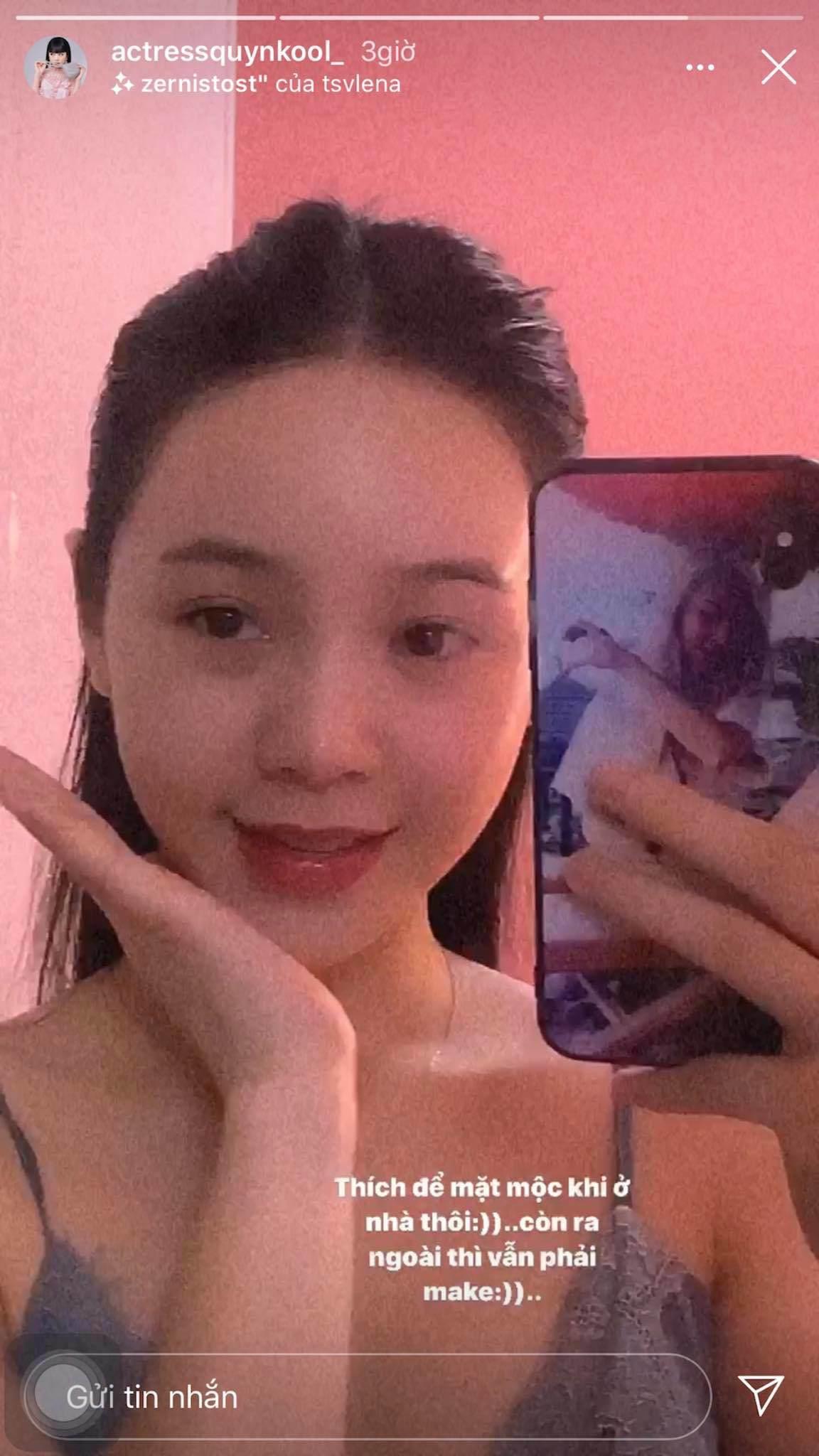 Quỳnh Kool ra ngoài trét 7749 lớp make-up nhưng khi để mặt mộc ai cũng đứng hình - 3