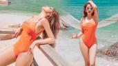 Sở hữu cả kho bikini khoét bạo, vợ trẻ đại gia Minh Nhựa rất chăm khoe vòng ba căng tròn