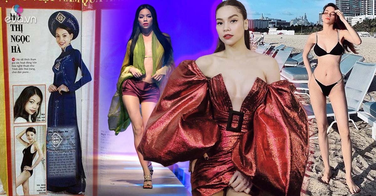 Bị đào ảnh thời thi Hoa hậu năm 2000, vóc dáng Hà Hồ ngày ấy thẳng đuột không đường cong
