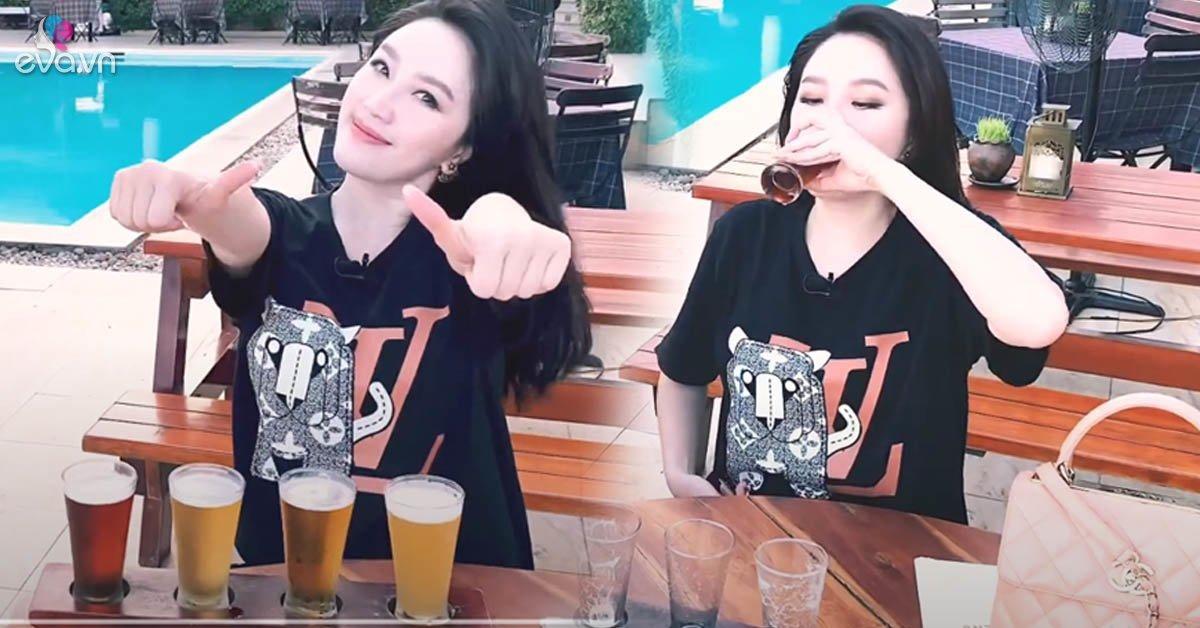 Bảo Thy 1 lần xử 4 cốc bia đầy, chị em rút ra cách uống giúp thăng hạng nhan sắc
