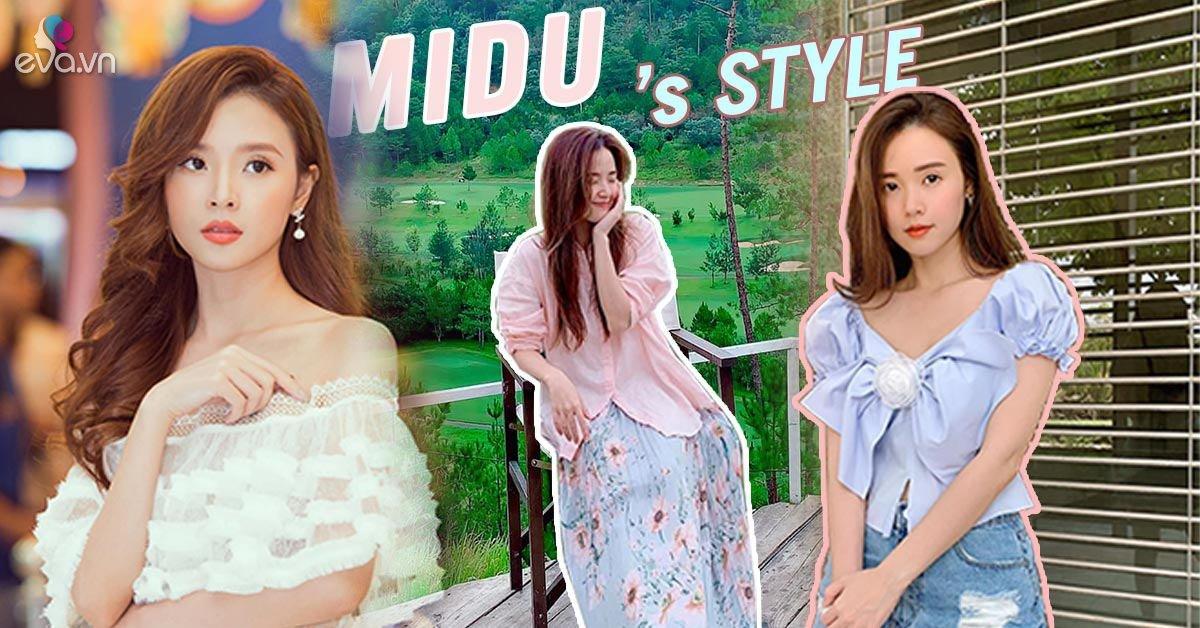 Mặc bộ đồ vừa dài vừa rộng, vóc dáng gợi cảm của Midu như bị nuốt trọn