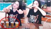 """Bảo Thy 1 lần """"xử"""" 4 cốc bia đầy, chị em rút ra cách uống giúp thăng hạng nhan sắc"""