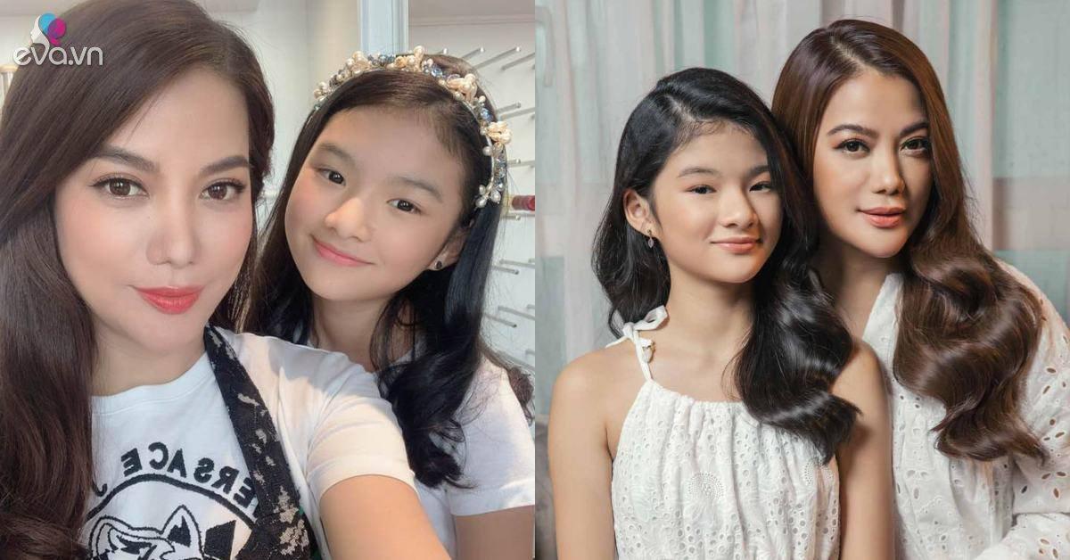 Con gái Trương Ngọc Ánh 12 tuổi đã trổ mã thành tiểu mỹ nhân, nói được 3 thứ tiếng
